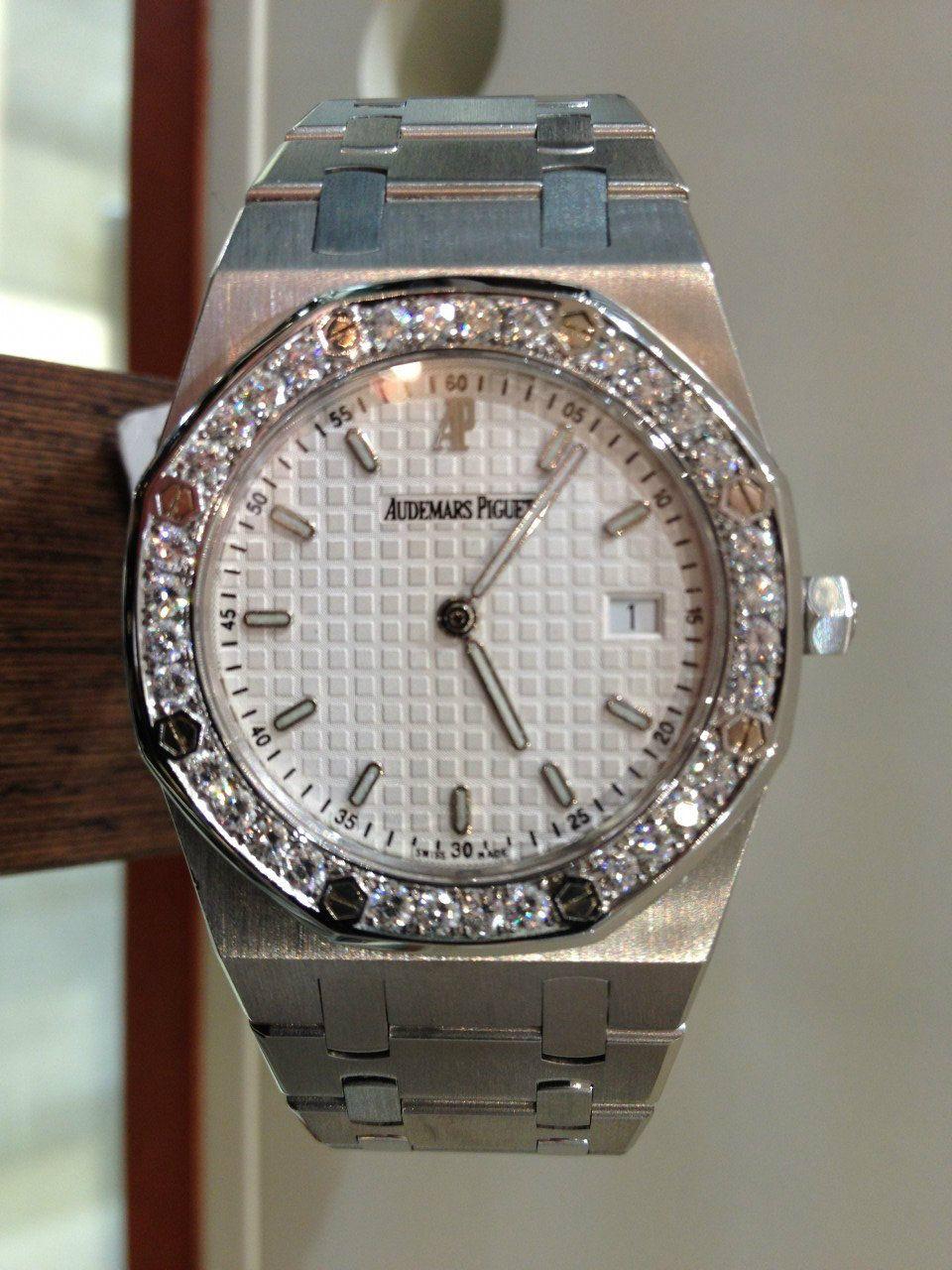 Audemars piguet royal oak quartz stainless steel diamond