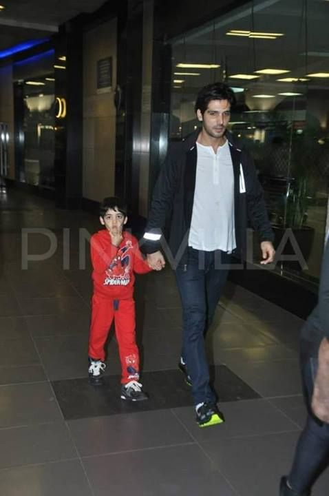 zayed khan with son zidaan khan celebrity momsamp father