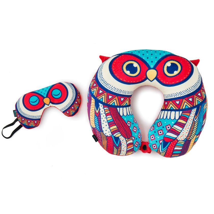 Buy Decorative Masks Online India Buy Festive Owl Travel Pillow With Eye Mask Online  Chumbak
