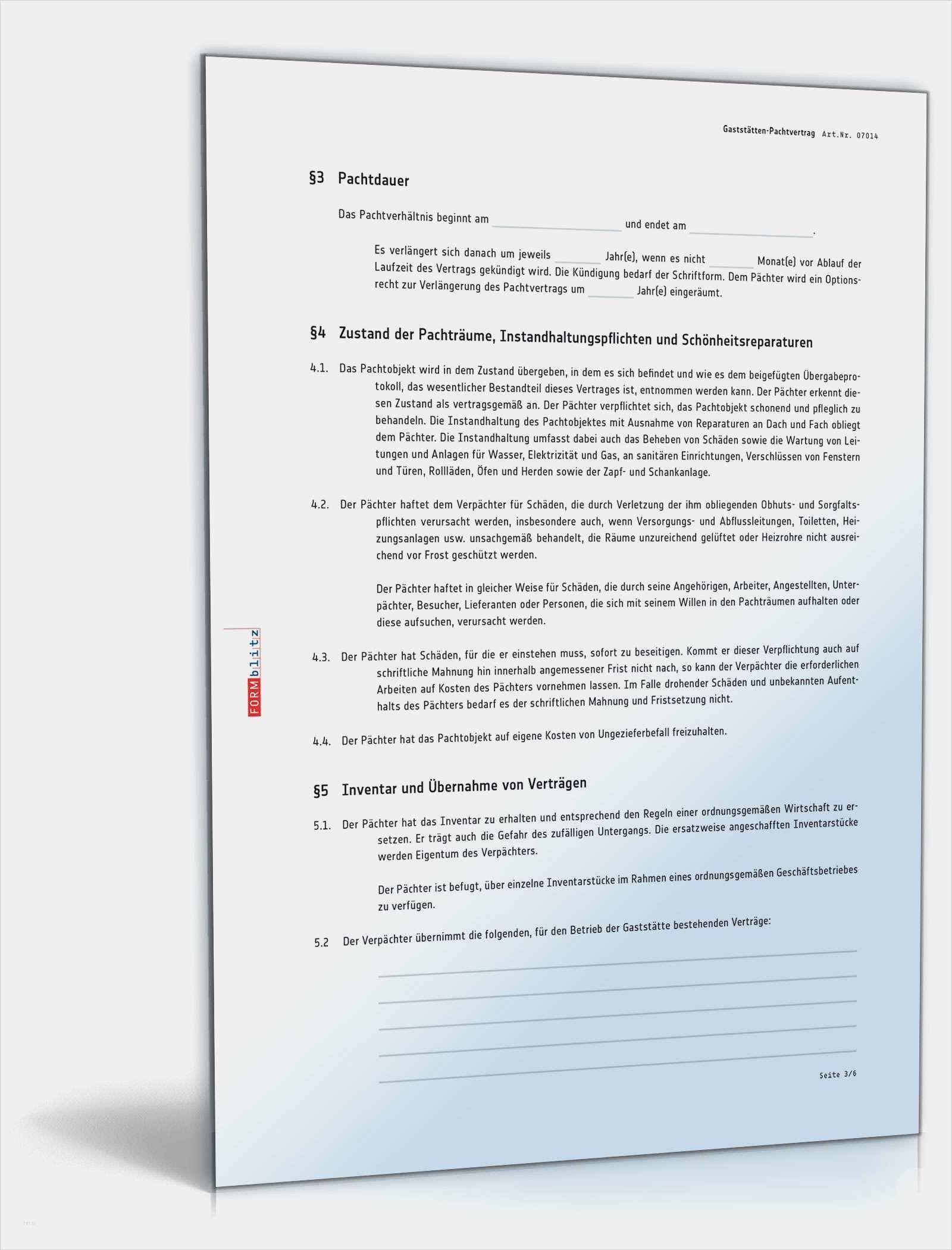 31 Einzigartig Pachtvertrag Vorlage Gastronomie Vorrate Vorlagen Rechnungsvorlage Vertrag