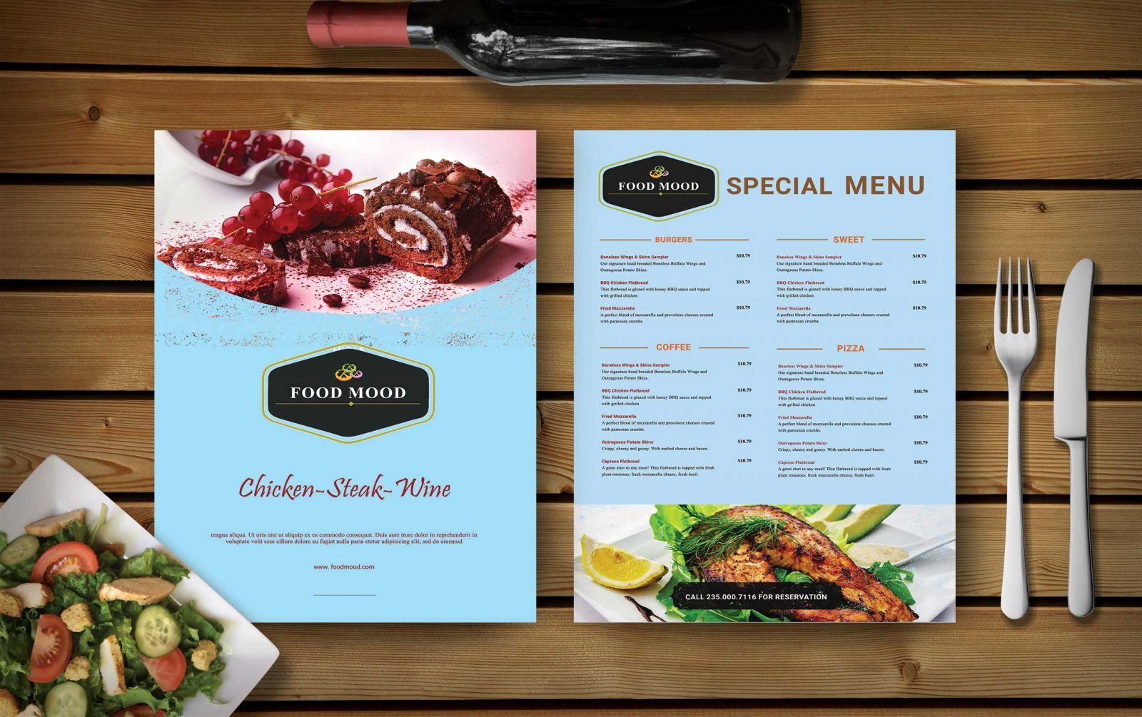 Free Menu Card Psd Mockup Specially Designed For Sweet Shop Cafe Menu Card Psd Mockup Food Menu Template Cafe Menu Design Menu Design Template