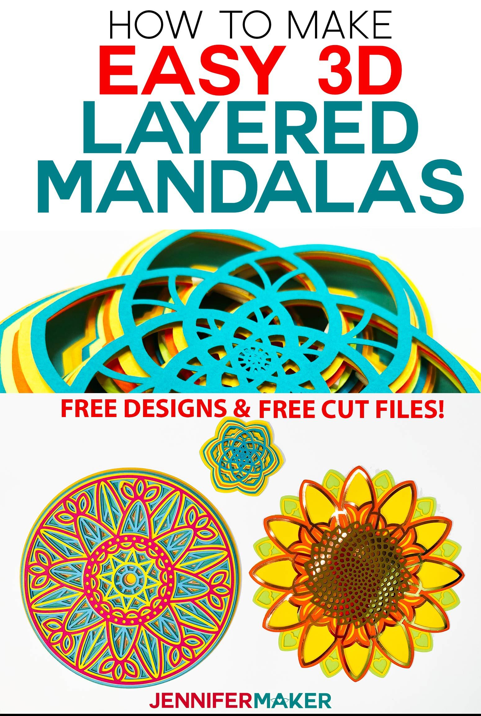 Download 3D Layered Mandalas: How to Multilayer & Mesmerize in 2020 ...