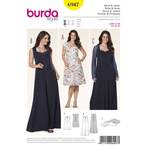 Burda Style Pattern 6947 Plus to size 60 | Sewing Projects and Tips ...