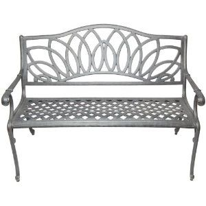 Incredible Alfresco Home Cast Aluminum Daffodil Garden Bench Just For Gmtry Best Dining Table And Chair Ideas Images Gmtryco