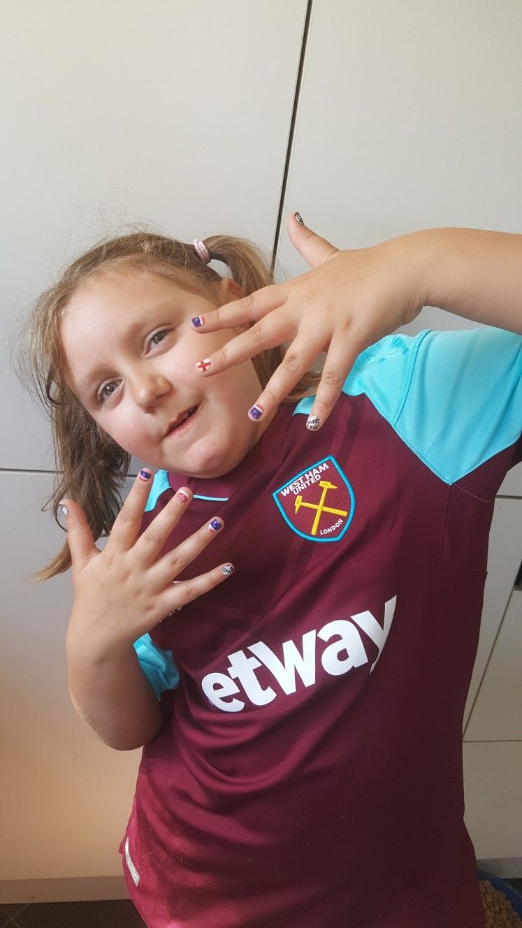 Was International Day at school today so Krystal Goffe did her nails ...