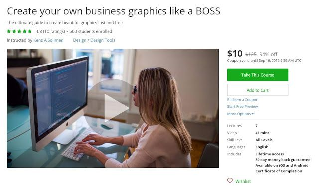 Coupon Udemy - Create your own business graphics like a BOSS ($10 Only) (94%…