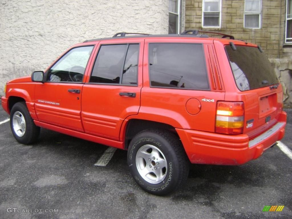 1998 Grand Cherokee Laredo 4x4 Flame Red / Gray photo 7