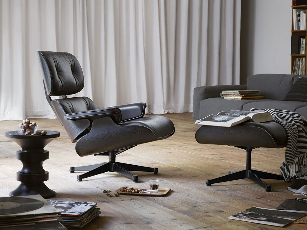 Vitra Eames Eames Lounge Chair Black Ash By Charles Ray Eames Chaplins Vitra Lounge Chair Vitra Lounge Eames Lounge