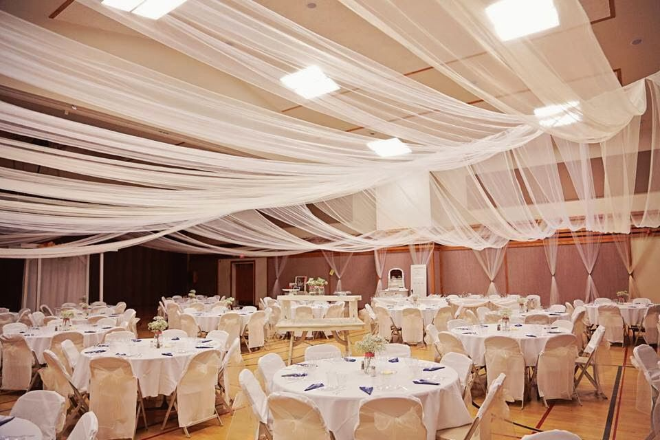 Tulle Ceiling Gym Wedding Reception Lds Weddings Reception
