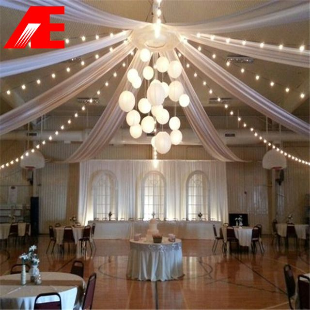 Reception Ceremony Hall: Source White Banquetceiling Drape On M.alibaba.com