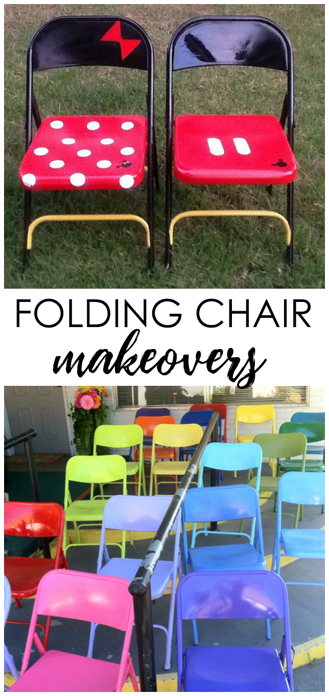 Cute Folding Chairs Amazing Metal Folding Chair Makeovers Diy Spray Paint And Fabrics
