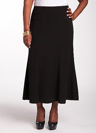 Perfect Collection: Solid Flounce Skirt $32.50