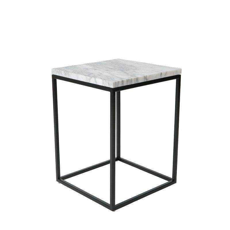 zuiver marble power beistelltisch mit marmor - platte