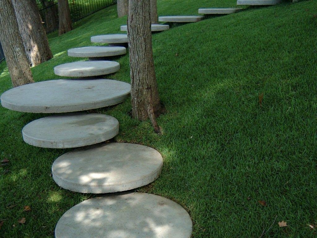 Best Round Concrete Steps Paving Ideas Garden Stairs Yard 400 x 300