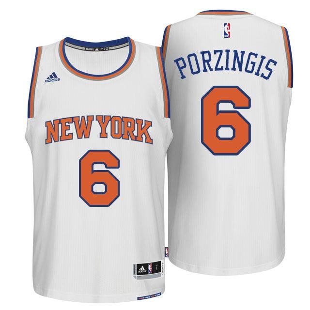 watch 79894 c9b4a ... nike swingman stitched nba jersey  kristaps porzingis 6 new york knicks  home white jersey