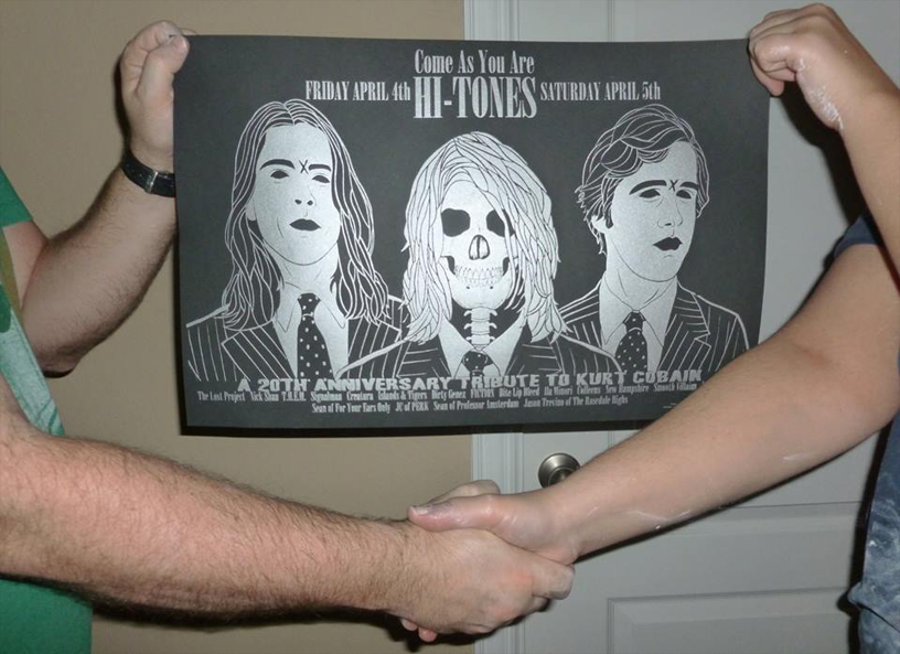 Kurt Cobain tribute poster by Regular John Design.