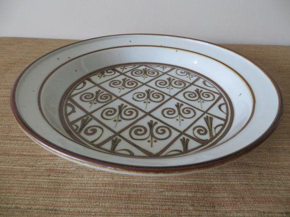 Dansk Stoneware Platter Fleur de Lis Pattern - Brown Mist - by Neils Refsgaard - Danish & Dansk Stoneware Platter Fleur de Lis Pattern - Brown Mist - by Neils ...