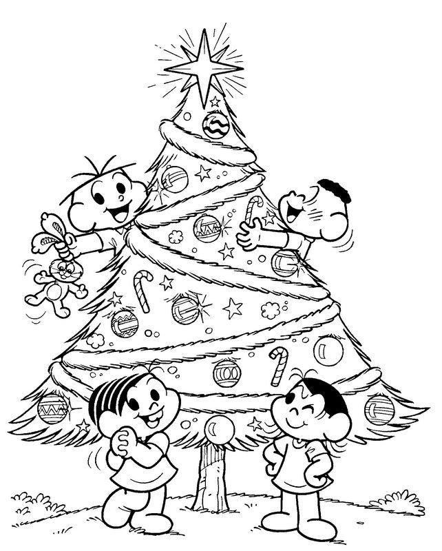 Arvore De Natal Da Monica Para Colorir
