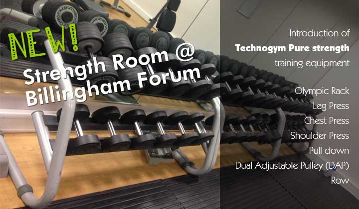 New strength room at Billingham Forum #fitness #weights