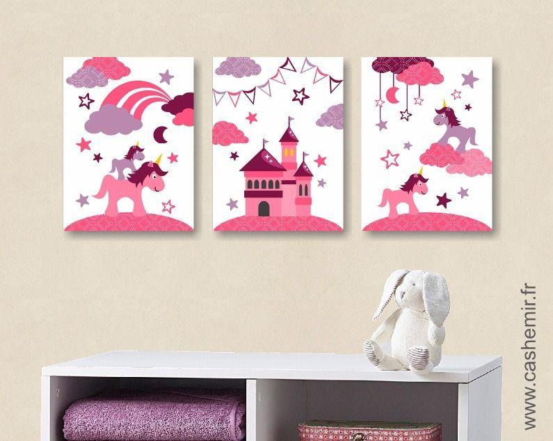 Affiche poster pour enfant, Lot de 3 illustrations pour chambre d ...