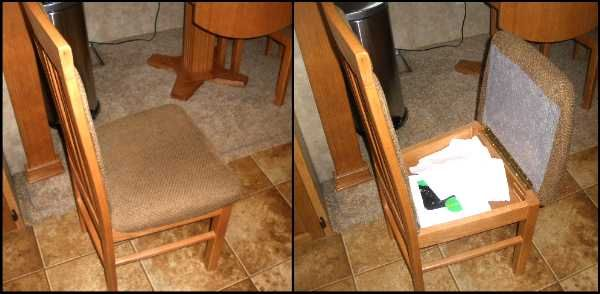 Rv Storage Ideas | RV Storage Ideas: Dining Chair RV Mod   Made Simple