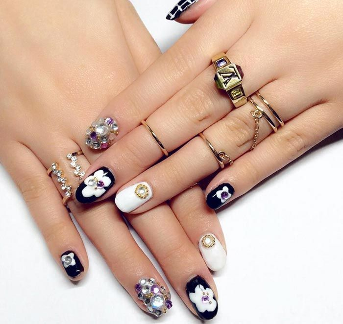 Stone nail art the new manicure craze on social media stone marble stone nail art designs nailart nails prinsesfo Choice Image