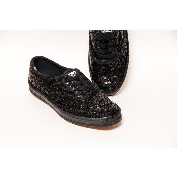 on sale c5493 adae2 Tiny Sequin Starlight Keds Brand All Black Sneaker Canvas Tennis Shoes  (1.465.395 IDR