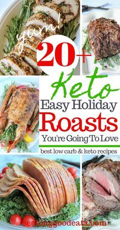 Holiday roast recipes are the tastiest main dish recipes for your next holiday dinner Holiday table worthy serve these gorgeous low carb and ketofriendly roast recipes at...