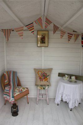 Website News And Summerhouse Progress Well A Bit Summer House Interiors Shabby Chic Bedroom Furniture Summer House Garden