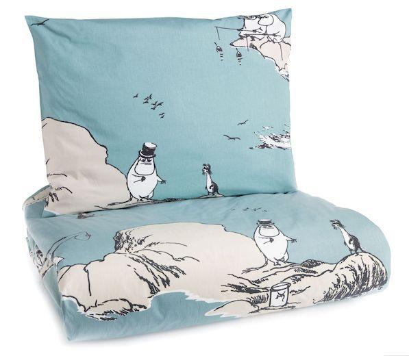 Luotomuumi-pussilakanasetti Finlayson 50 e -  Moomin archipelago duvet pillowcase set
