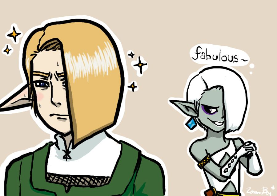 This was all Link had to fear from Ghirahim, but it was all Link could do not to kill himself when it happened.