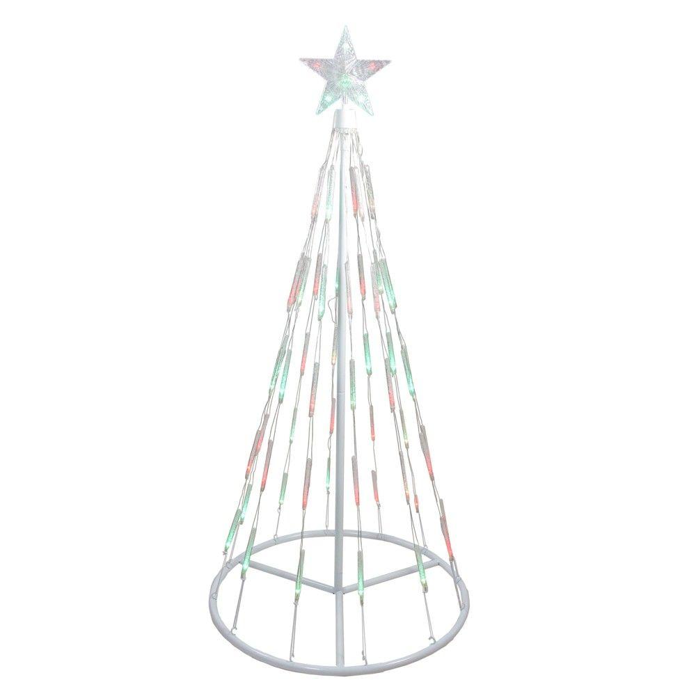Northlight 4' White Single Tier Bubble Show Cone Christmas