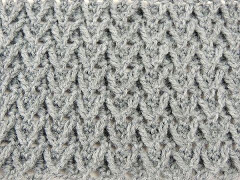 Crochet: Punto en Relieve con Zig Zag - YouTube | SZYDEŁKO ...