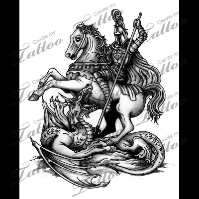 st george slaying the dragon tattoo warrior tattoo designs pinterest illustrationer och. Black Bedroom Furniture Sets. Home Design Ideas