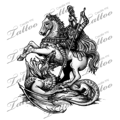 marketplace tattoo st george slaying the dragon 2297 tattoo designs for. Black Bedroom Furniture Sets. Home Design Ideas