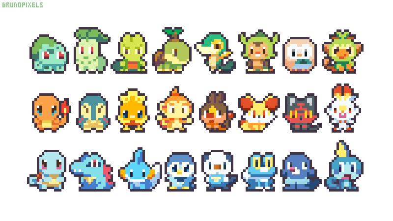 Pixel Art Pokemon, Pixel Art, Pokemon Art