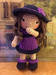 Bedtime Doll PURPLE Baby Girl Crochet Doll Purple Rag Doll Cuddly Doll Girl Lalylala Baby girl doll Crochet Doll Amigurumi doll