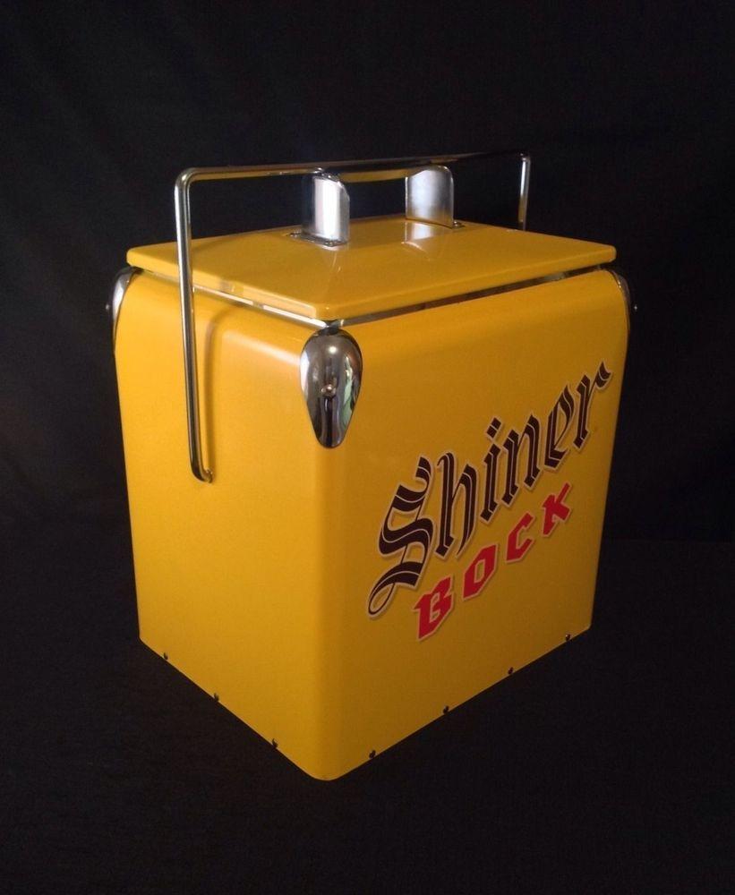 Vintage Style Retro Look Shiner Bock Beer Cooler Nib
