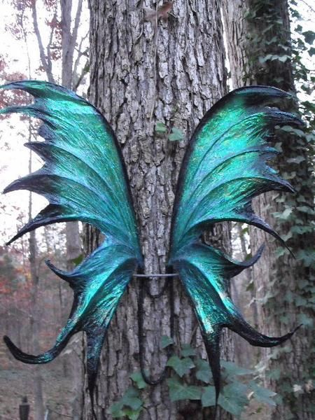 I found 'OOAK Iridescent Green Black Fae Fairy Wings Cosplay by Jenniveves' on Wish, check it out!