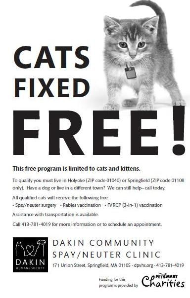 Massachusetts For A Limited Time Cats Can Be Fixed Free At The Dakin Humane Society As Part Of Gran Bully Sticks For Dogs Cat Adoption Inspirational People