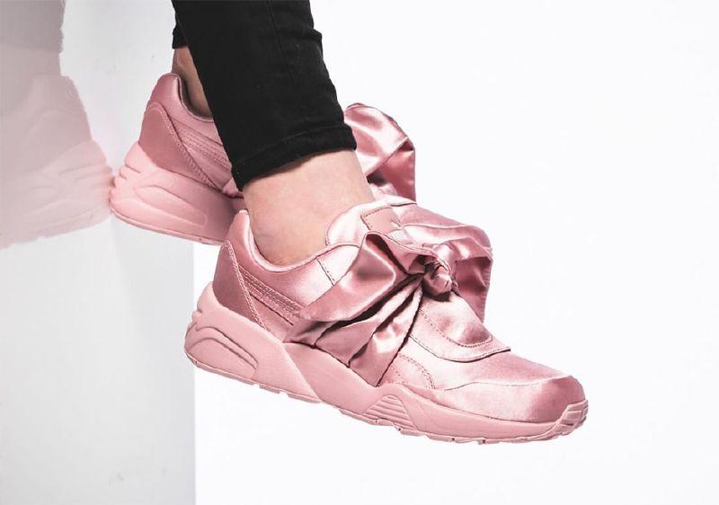 uk availability a97f5 e8cd5 Fashion Fenty Bow Sneaker in Silver Pink | JoRdAn'Z | Puma ...