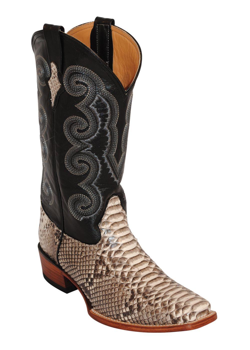 Ferrini USA Men's Natural Python D-toe Boots