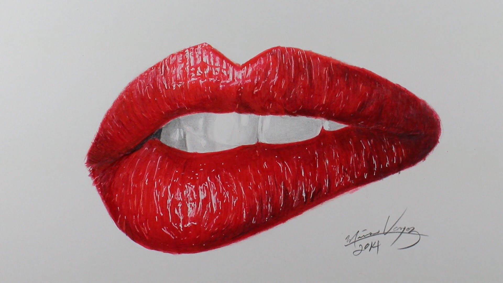 How To Draw Realistic Lips Part 2 Pencilgram Realistic