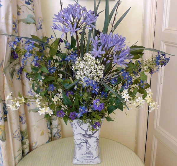 Blue Agapanthus Available White And Purple Too Spring Wildflower Wedding Flower Bouquet Wedding Flower Arrangements