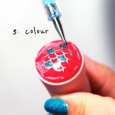Mermaid Nails Tutorial!! LOVE! #Howto #tutorial #nailart #nails #nailpolish #naillacquer - bellashoot.com #mermaidnails