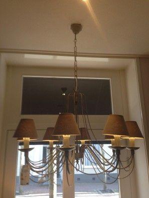 Prachtige kroonluchtiger met 8 lampen   De Drie Linden