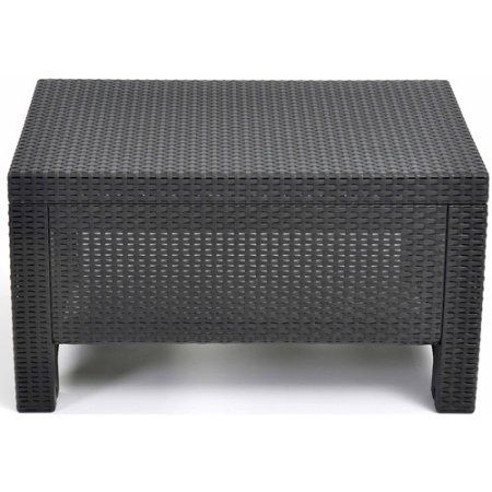 Free Shipping. Buy Keter Corfu Resin Coffee Table, All Weather Plastic Patio  Furniture, Charcoal Gray Rattan At Walmart.com | Patio Coffee Tables ...