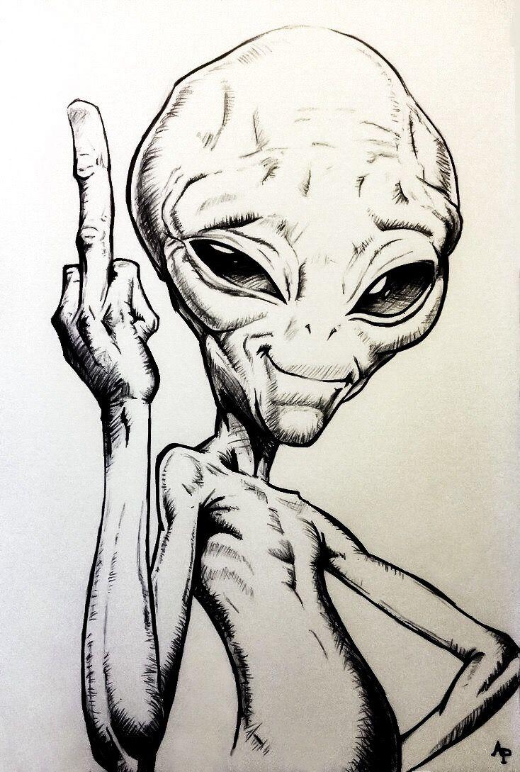 Картинки инопланетян в карандашей