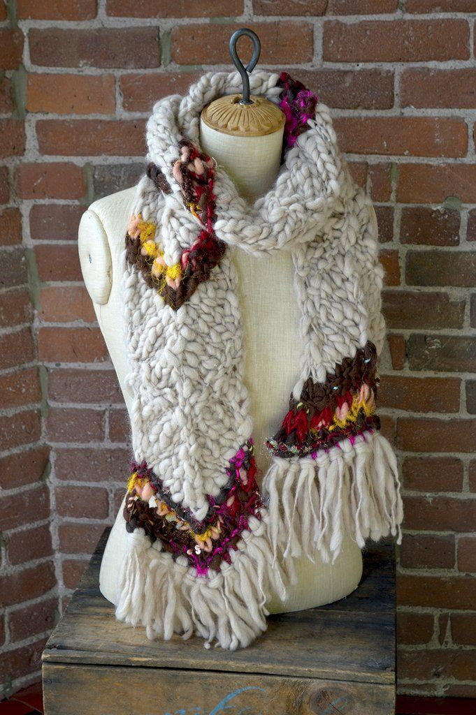 Chevron Stripe Scarf (With images) | Beginner knitting ...