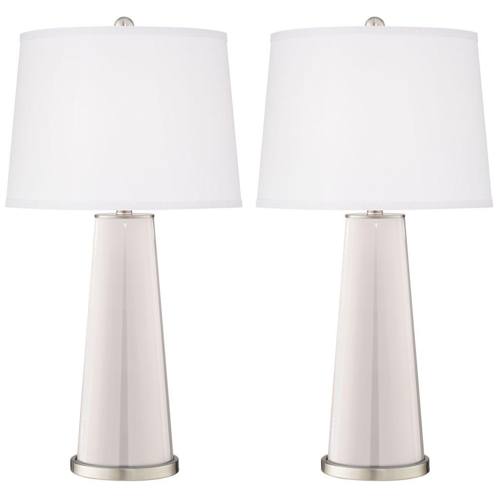 Smart White Leo Table Lamp Set Of 2 17t21 Lamps Plus Table Lamp Table Lamp Sets Lamp Set of two table lamps